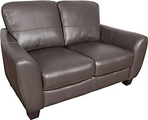 CorLiving LZY-221-L Jazz Leather Loveseat Brown