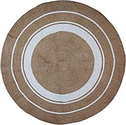 Foreside Home And Garden 4 Round Jute Chindi Rug