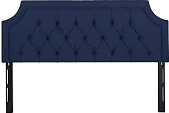 Jennifer Taylor Home Kaye Collection King Size Size Modern Adjustable Diamond Tufted Bed Headboard, King Size, Dark Midnight Blue