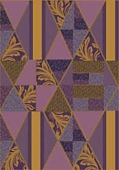 Milliken Carpet Milliken Pastiche Collection Valencia Area Rug, 78 x 109 Oval, Lilac