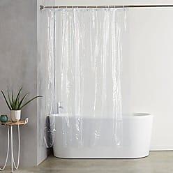 AmazonBasics Forro transparente de PVC para cortina de ducha (180 x 180 cm) b835b0c4af2c