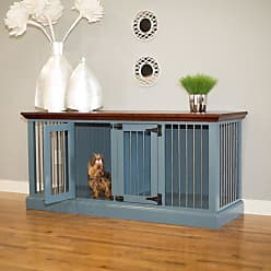 Eagle Furniture Small Double Wide Dog Crate Credenza Tempting Turquoise Concord Cherry - K9SDD-302364-TTCC