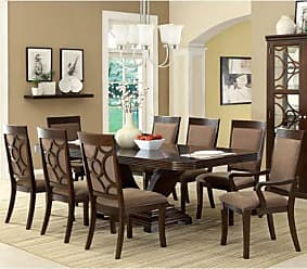 FURNITURE OF AMERICA 24/7 Shop at Home 247SHOPATHOME IDF-3663T-7PC Dining-Room-Sets, 7-Piece, Brown