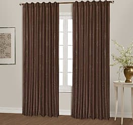 United Curtain Starburst Window Curtain Panel, 54 by 84-Inch, Chocolate