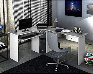 Zanzini Móveis Mesa Para Escritório Zanzini Móveis Max L 1 Gaveta Branco Ártico