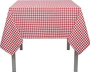 Now Designs Tablecloth, 60 by 90 inches, Red and White Gingham
