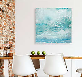 WEXFORD HOME Aqua Skies Gallery Wrapped Canvas Wall Art, 32x32