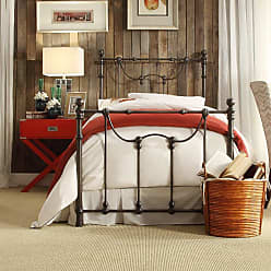 Weston Home Ryde Metal Bed Antique White, Size: Queen - E637BQ-1W(3A)[BED]