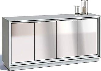 Imcal Buffet Ópera 4 Portas com Espelho Branco Acetinado - Imcal