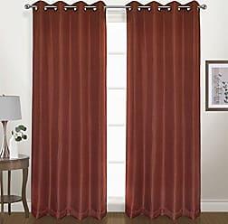 United Curtain Herringbone Blackout Woven Window Panel, 54 by 84, Terracotta, 54 X 84