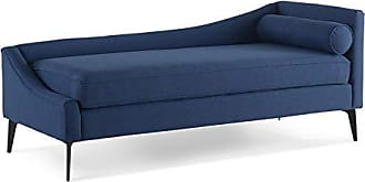 Jennifer Taylor Home Sandy Wilson Home S62190-L-976 Kinsley Chaise Lounge, Dark Sapphire Blue