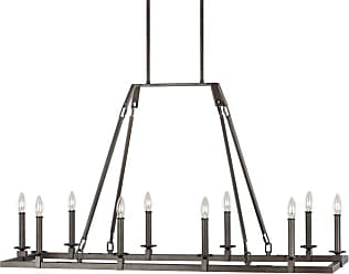 Feiss F3218/10 Landen 10 Light 48 Wide Taper Candle Chandelier Smith