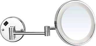 Nameek's AR7703-CR-3x Glimmer Round Wall Mounted 3x Magnification Makeup Mirror with LED, Chrome
