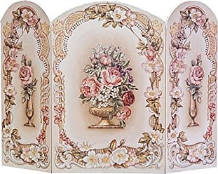 The Stupell Home Décor Collection The Stupell Home Decor Collection 3 Panel Decorative Fireplace Screen, Victorian Floral, 43 by 31 by 0.5-Inch