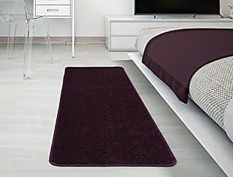 Ottomanson Softy Collection Solid Non-Slip Kitchen/Bath Rug, 20 X 59, Purple