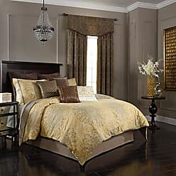Ellery Homestyles Beautyrest Sandrine 104-Inch by 96-Inch 4-Piece King Comforter Set, Gold
