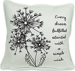 Pavilion Gift Company Dandelion Every Dream Fulfilled Started with a Simple Wish 12 Decorative Micro Suede Pillow Mint Green