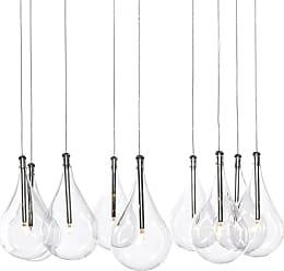 ET2 E20115 Larmes 22 9 Light Pendant Chrome Indoor Lighting