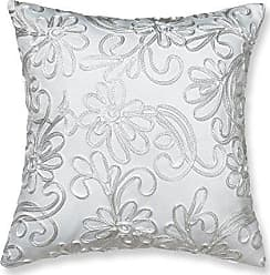 Violet Linen VL-69622-Chantilly-Cus-Wht Cushion Cover, 18 x 18, White