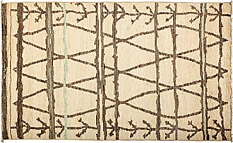 Solo Rugs Moroccan Hand Knotted Area Rug 4 9 x 8 1 Ivory