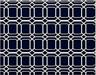 E by Design E by design PT4G789BL44 O The Fun, Geometric Print Placemat 18x14 Blue