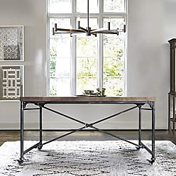 Armen Living LCEZDISBPI Enzo Dining Table, Industrial Grey
