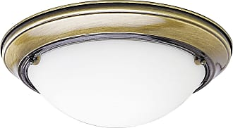 PROGRESS P3562-11EB Two-light close-to-ceiling in Antique Brass finish with satin white glass