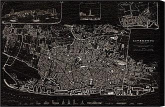 Hatcher & Ethan Liverpool 1836 Map Canvas Art - HE12969_60X40_CANV_XXHD_HE