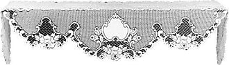 Heritage Lace Vintage Rose 20-Inch by 90-Inch Mantle Scarf, White