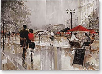 WEXFORD HOME Riverwalk Charm Gallery Wrapped Canvas Wall Art, 36x48, Multicolor