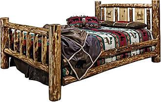 Montana Woodworks Montana MWGCCAKBLZELK Woodworks Glacier Collection California King Bed, with with Laser Engraved Elk Design