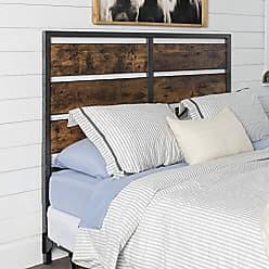 Walker Edison WE Furniture Metal and Wood Plank Queen Headboard