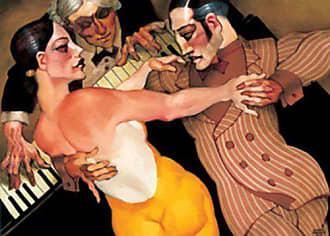 Buyartforless Femme au Robe Orange by Juarez Machado 5 X 7 Art Print Poster