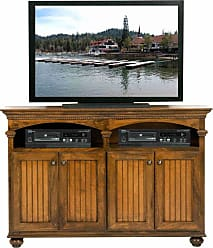 Eagle Furniture American Premiere Customizable 58 in. Entertainment TV Stand with 4 Doors - 16155WPSSS