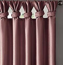 Madison Park Emilia Room-Darkening Curtain DIY Twist Tab Window Panel Black-Out Drapes for Bedroom and Dorm, 50x84, Purple