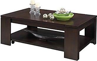 Progressive Furniture Waverly Castered Cocktail Table, Vintage Walnut