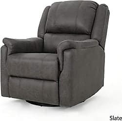 GDF Studio Christopher Knight Home 302058 Jemma Swivel Gliding Recliner Chair, Slate
