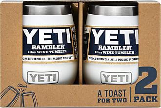 Yeti White 10 Oz Rambler Wine Tumbler 2-Pack
