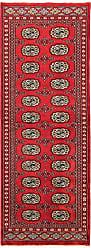 Nain Trading Oriental Rug Pakistan Buchara 2ply 60x21 Runner Dark Brown/Rust (Wool, Pakistan, Hand-Knotted)