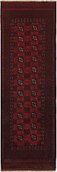 Nain Trading Oriental Rug Afghan Akhche 81x25 Runner Dark Grey/Dark Brown (Wool, Afghanistan, Hand-Knotted)