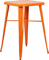 Flash Furniture 23.75 Square Orange Metal Indoor-Outdoor Bar Height Table