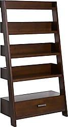 Simpli Home Simpli Home AXCDNA-15-MAB Deanna Solid Wood 66 inch x 36 inch Contemporary Ladder Shelf in Medium Auburn Brown