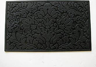 Geo Crafts Rubber Leaf Scroll Doormat