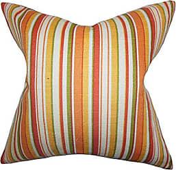 The Pillow Collection Tait Stripes Bedding Sham Orange King/20 x 36