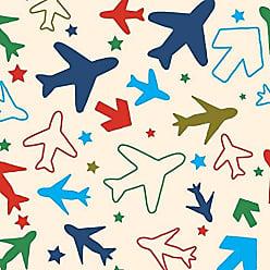 Lar Adesivos Papel de Parede Infantil Avião Quarto Menino Lavável N3953