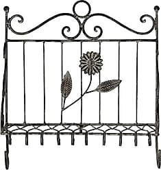 Essential D/écor Entrada Collection Wood and Metal Wall Decor 19.5 by 1.5 by 19.5-Inch