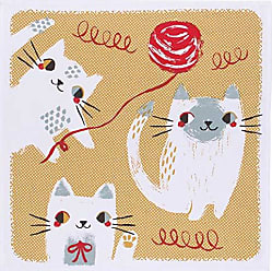 Danica Studio Designer Kitchen Towel, Meow Design, 1 EA