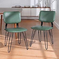 Walker Edison WE Furniture AZHUPHAR2PGR Accent Chair, Green