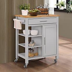4D Concepts Edmonton Kitchen Cart Black - 43929