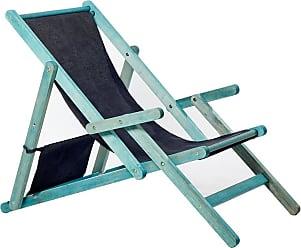 Mão & Formão Poltrona Calme com Braço Azul e PretoAzul e Preto
